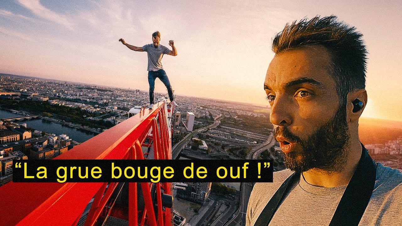 ARRÊTÉ SUR LA PLUS HAUTE GRUE DE PARIS !! (POLICE)