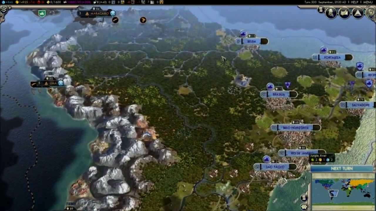Modern Earth Template 2014, a Civ 5 scenario