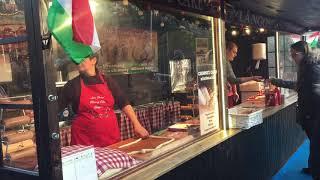Hungarian kurtos kalacs chimney cake at Edinburgh Christmas market