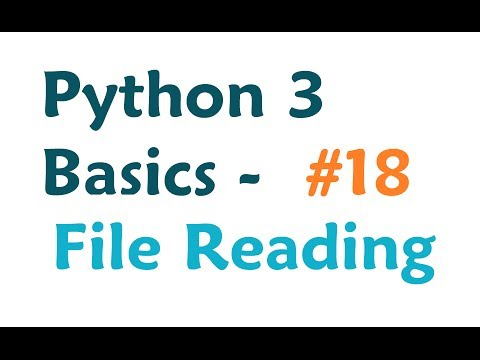 Python 3 Programming Tutorial - Read from a file