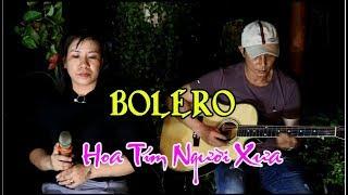 BOLERO Hoa Tím Người Xưa /tg Thanh Sơn / ca lẻ Ngọc Thảo và Guitar Bolero Mái Lá