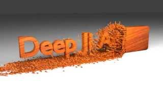 Wood Chipping Text Animation Created Using 3D Animation Software Blender .