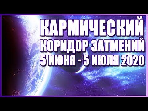 Коридор затмений 5 июня - 5 июля 2020