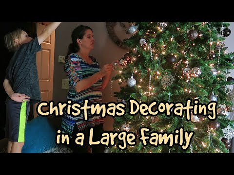Christmas Decorating In A Large Family: