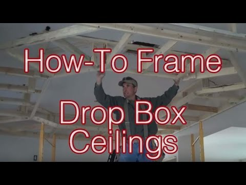 How To Frame Drop Box Ceilings Home Renovation Tips Youtube