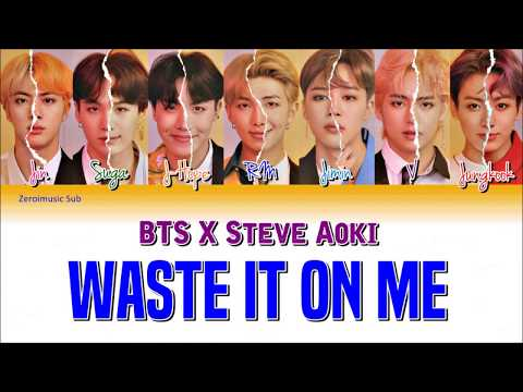 STEVE AOKI - Waste It On Me Feat. BTS (Lyric Video) [VEVO Lyrics]