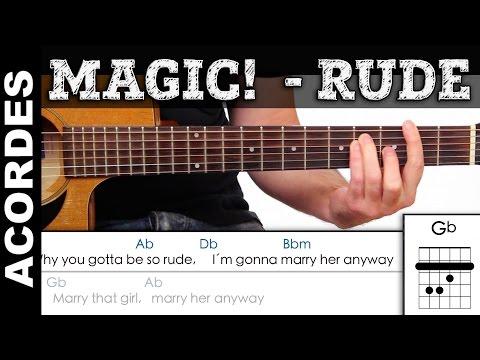 Rude - Magic en guitarra acordes y letra guitar chords and cover with lyrics !