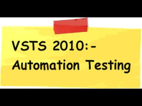 VSTS 2010 :- How to do Automation testing using coded UI test ?