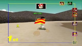 Mario Kart 64 - Mushroom Cup 150cc with Yoshi