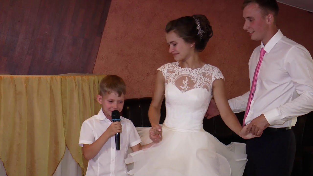 поздравление от 12 летнего брата на свадьбу его счету