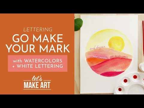 Go Make Your Mark - Lettering Tutorial with Nicole Miyuki thumbnail