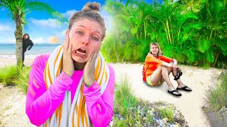 STRANDED on DESERTED ISLAND for 24 HOURS with MYSTERY NEIGHBOR !!! (Vacation Canceled)