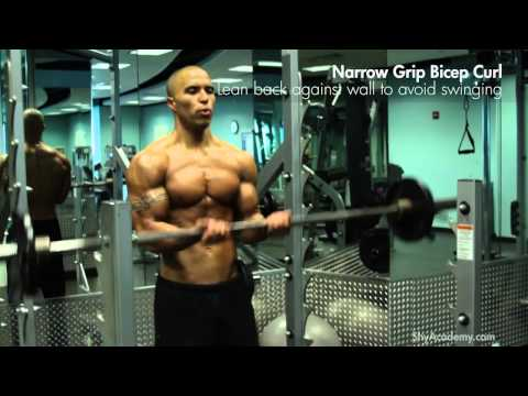 BICEPS - Narrow Grip Barbell Curl