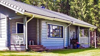 Blue cottage. Коттедж в Финляндии, озеро Пурувеси(Фото, календарь, карта, бронирование: http://www.vuokramokitsuomi.com/cottager.php?ct=1203 Коттедж из бревна, год постройки 1999. Площ..., 2015-11-05T19:04:25.000Z)