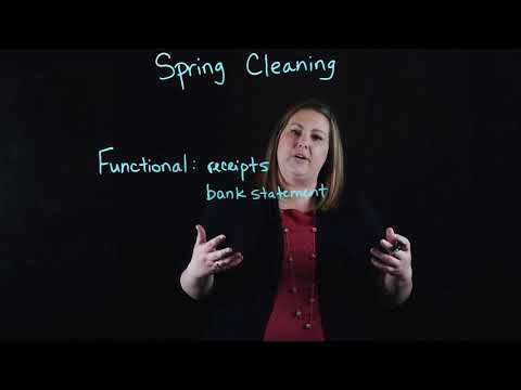 Spring Cleaning Two Types of Financial Documents