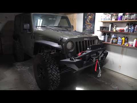 how to install a winch and wire it jeep wrangler youtube. Black Bedroom Furniture Sets. Home Design Ideas