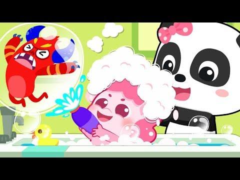 Baby Unicorn Bath Time | Bath Song | Play Safe | Nursery Rhymes | Kids Songs | Baby Cartoon |BabyBus