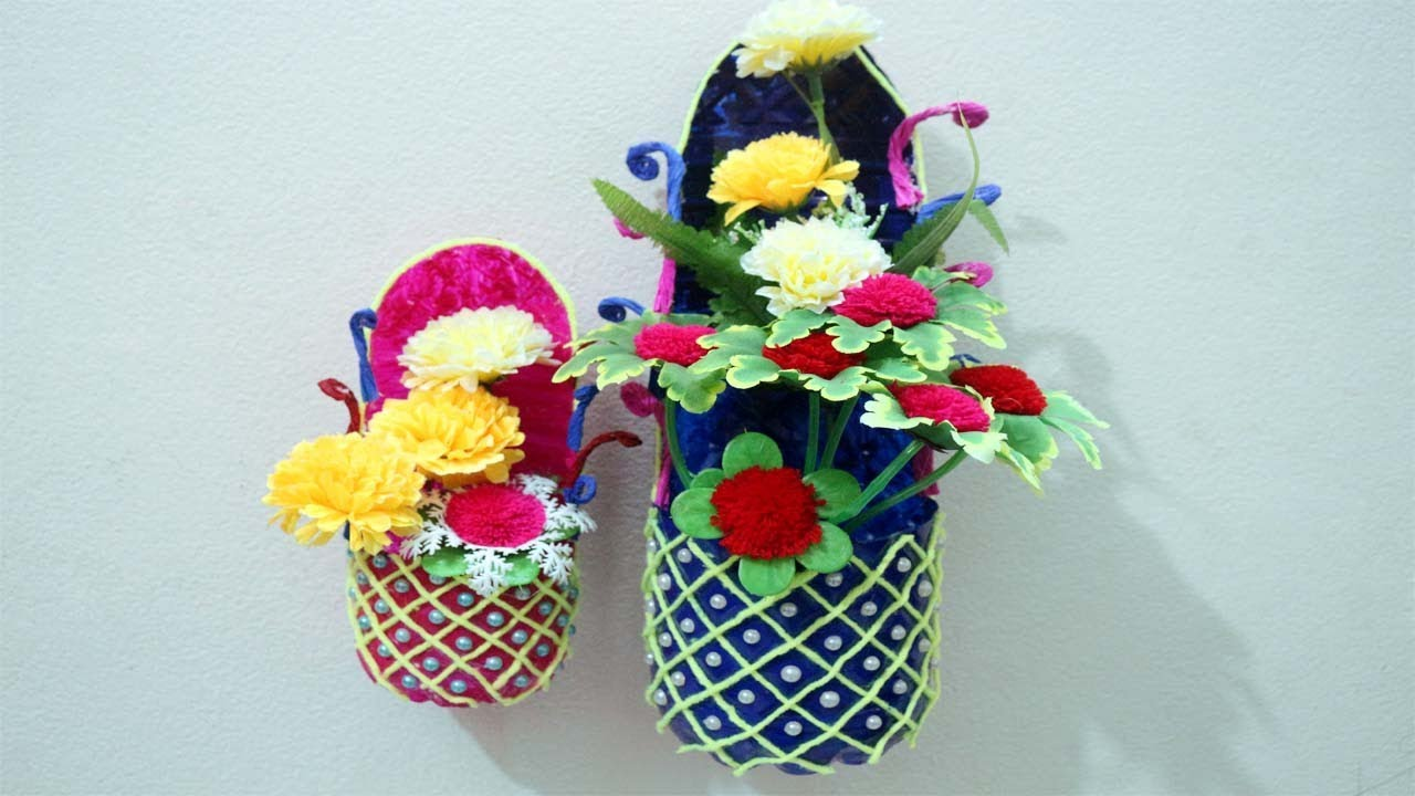DIY   Flower Vase From Plastic Bottle   Plastic Bottle Vase Design    Plastic Bottle Recycling Ideas
