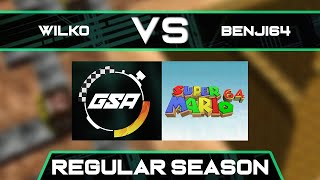 Wilko vs Benji64 | Regular Season | GSA SM64 70 Star Speedrun League Season 3