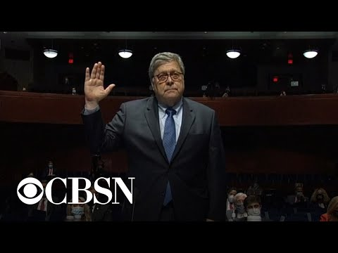 """Attorney General William Barr says he has """"complete freedom"""" from Trump"""