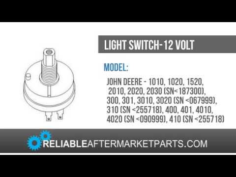 john deere 3020 light switch wiring diagram 2002 chevrolet malibu radio ar28401 new 1010 1020 1520 2010 2020 2030 3010 4010