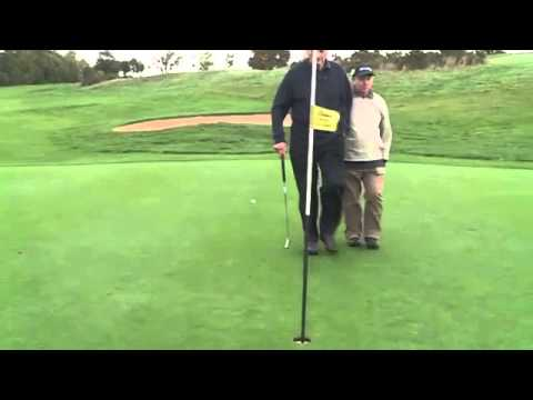 Blind golfer hits hole in one