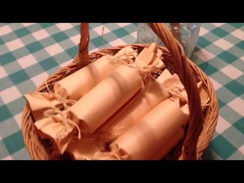 Fire Starters Using Toilet Paper Rolls Dryer Lint And Wax