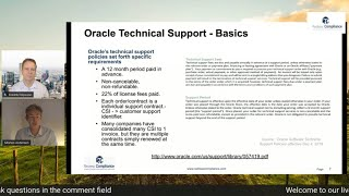Explaining Oracle Repricing | Matching Service Levels | Annual Increase