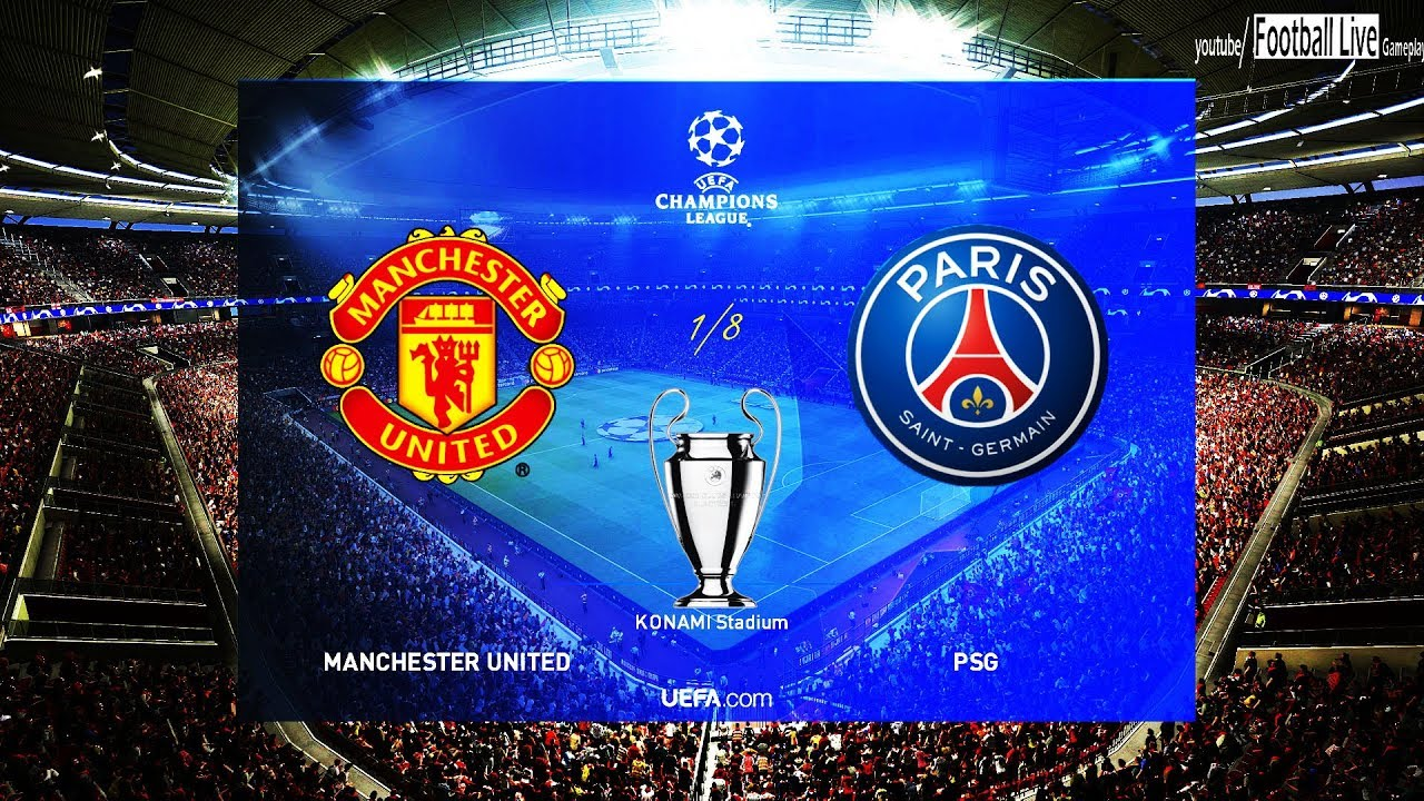 Pes 2019 Manchester United Vs Psg Uefa Champions League Ucl Gameplay Pc Youtube