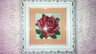 Tutorial: how to embroider a picture of beads / Как вышивать бисером картины