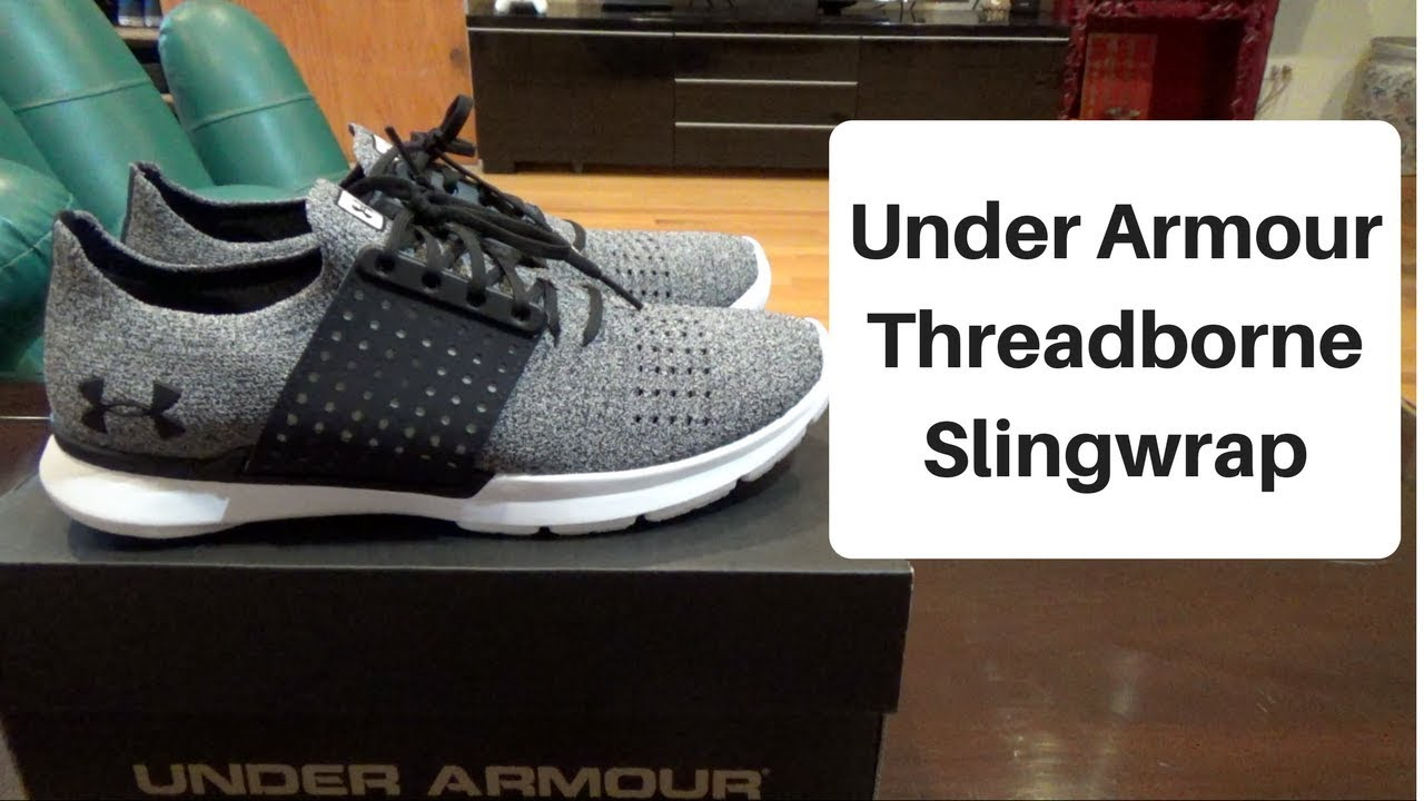 low priced 7d16e 2bb30 UNDER ARMOUR THREADBORNE SLINGWRAP UNBOXING / ON FEET REVIEW