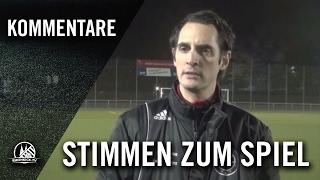 David Meyes (SC Borussia Lindenthal-Hohenlind) und Patrick Knobel (Trainer Heiligenhauser SV)