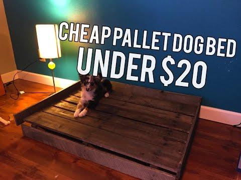 Cheap DIY Pallet Dog Bed!