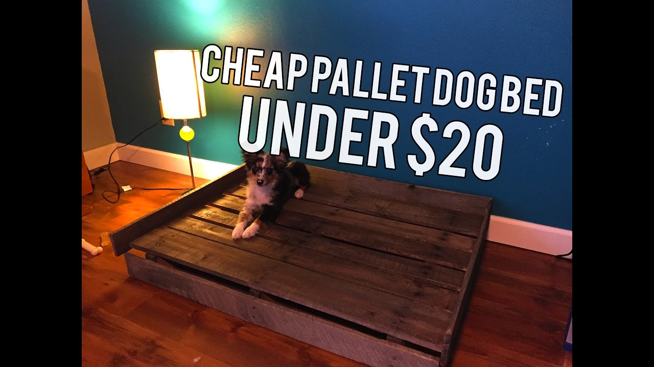Cheap Diy Pallet Dog Bed Youtube