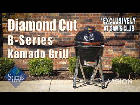 Sam's Club Diamond Cut B-Series Kamado Grill | Vision Grills