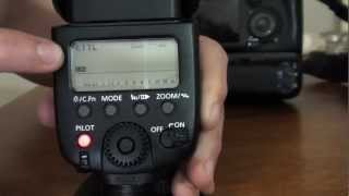Canon Speedlite 580EX II Tutorial Part 2