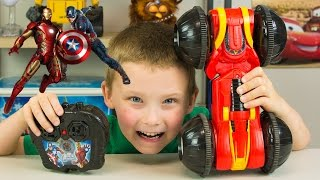 Captain America Civil War Toys Marvel Avengers RC Rollover Rumbler Toy Car for Kids Kinder Playtime