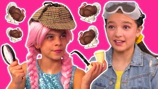 Thanksgiving Turkey Goes Missing! 🦃 Hunt For Special Meal - Princesses In Real Life | Kiddyzuzaa