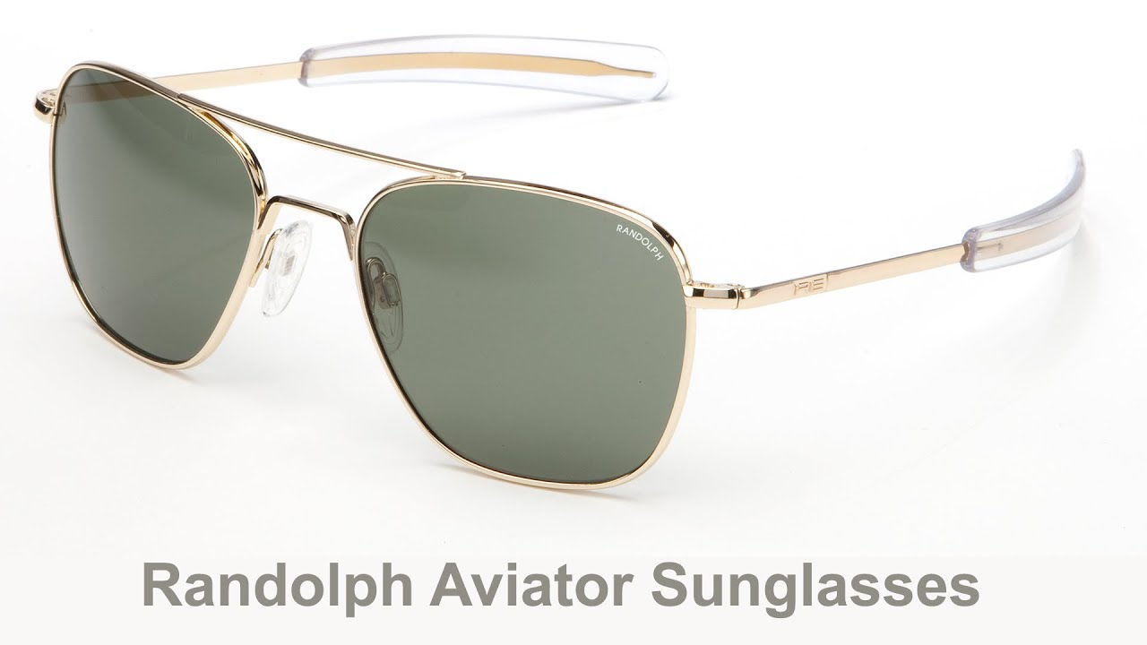 Randolph Aviator Matte Chrome Bayonet Temple Gray Polarized Sunglasses