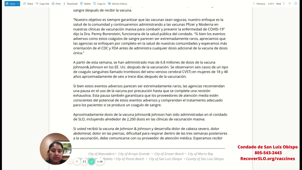 Pausan la vacuna Johnson y Johnson- Mensaje en Mixteco de Metlatonoc,Guerrero