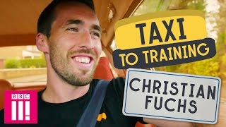Leicester City's Christian Fuchs   Taxi to Training
