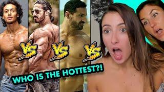 American Girls on Who Has The Best Body Hrithik  John VS Tiger VS Vidyut VS Anoop VS Sahil Reaction