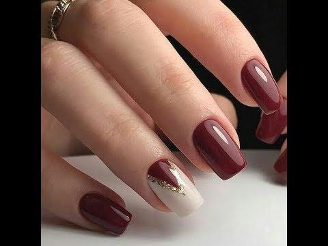 Модный бордовый маникюр 2019/Винные ногти/цвет марсала ...