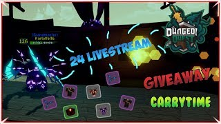 Last Hours from 24h Carry Stream | Dungeon Quest | Roblox