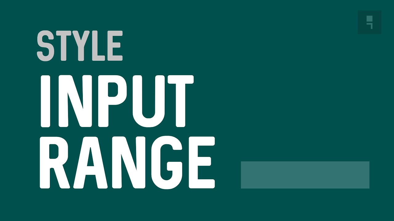 Custom input Range Styling - How to Style a HTML Input Range Tag