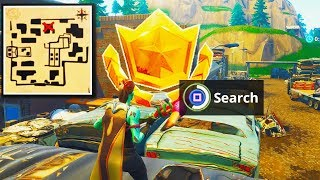 """Follow the Treasure Map Found in Haunted Hills"" Location Fortnite Week 9 Challenges (TREASURE MAP)"