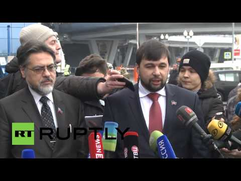 Belarus: Kiev no-show as DNR's Pushilin arrives for peace talks
