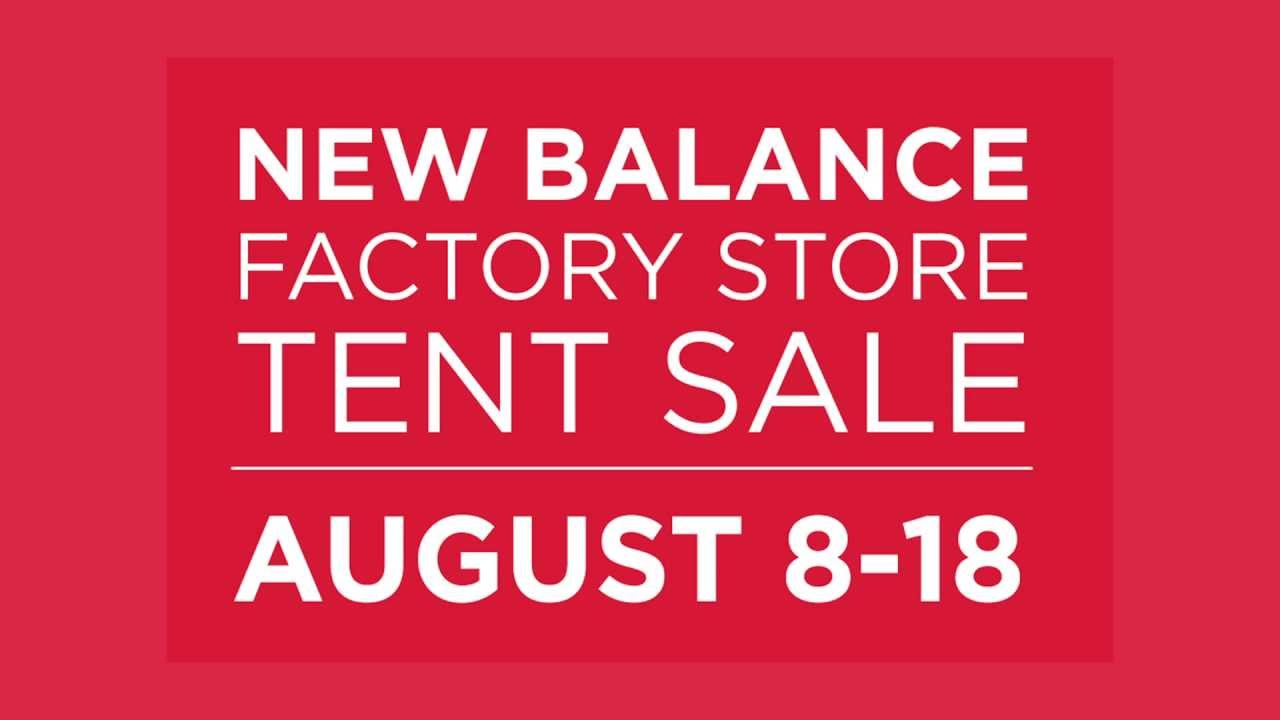 new balance tent sale dates
