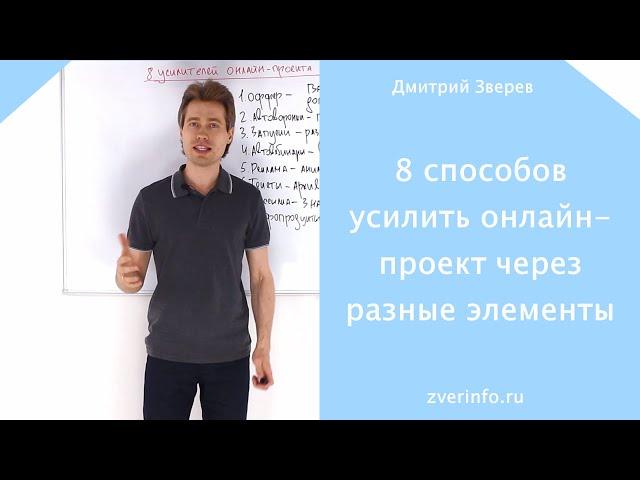 8 способов усилить онлайн-проект через разные элементы