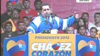 (ND) Chávez termina discurso en San Fernando con los ojos llorosos...